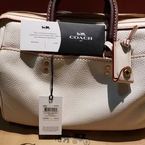COACH PEBBLE LEATHER ROGUE SATCHEL